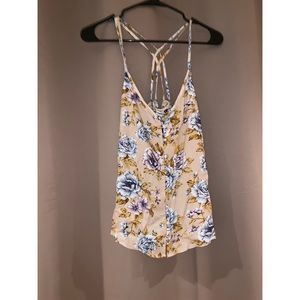 Tan floral camisole